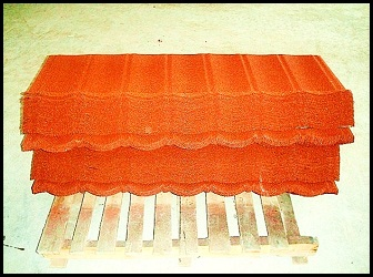 red stone coated metal roofing sheets